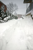 2016 blizzard meio-Atlântico (EUA) Fotos de Stock Royalty Free