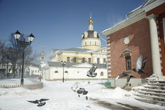 Blizzard in Moscow Stock Photography