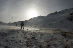Blizzard at the mountains Royalty Free Stock Photos