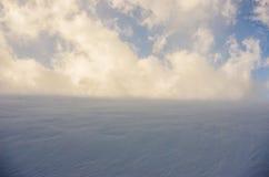Blizzard in the mountains stock photos