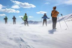 Blizzard nas montanhas Foto de Stock