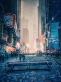Blizzard in New York am 23. Januar 2016 Lizenzfreies Stockbild