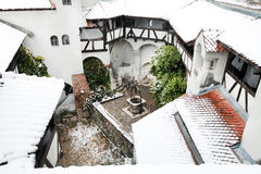 Blizzard over Bran Castle Royalty Free Stock Photo