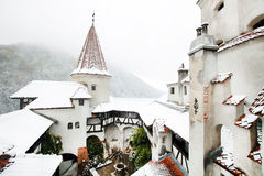 Blizzard over Bran Castle Stock Photography