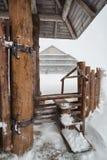 Blizzard in the romanian mountains Stock Photos