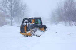Blizzard 2016 Snow Removal Royalty Free Stock Image