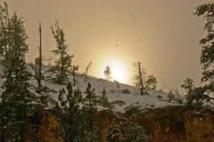 Blizzard-Sonnenuntergang Stockbild