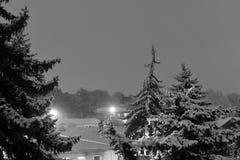blizzard soyez peut concevoir l'hiver utilisé par nuit d'horizontal d'illustration votre Pyatigorsk, Russie image libre de droits
