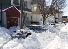 Blizzard-Straße Lizenzfreies Stockfoto