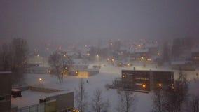 Blizzard in Tromso-Stadt stock video footage