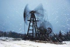 Blizzard und Schaukelstuhl Stockfotografie