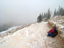 Blizzard van de winter (2) stock foto's