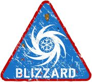 Blizzard warning sign Stock Photography