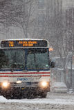 Blizzard in Washington, DC Stock Images