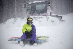 Blizzardtag Stockfotos