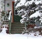 Blizzardtageshintergrund Stockfotografie