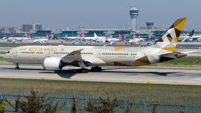 A6-BLK Etihad Airways, Boeing 787-9 Dreamliner Fotografía de archivo
