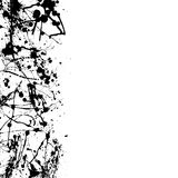 Blk splat border. Abstract ink splat border with room to add your own copy Royalty Free Stock Photography