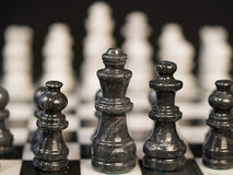 Bllack Chess Pieces Stock Image