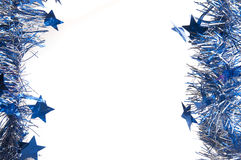 Bllue garland with stars Stock Images