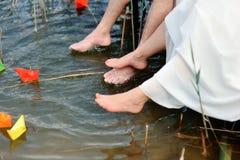 Bloße Füße Stockbild