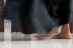 Bloße Füße in einer Moschee Lizenzfreies Stockbild