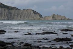 Bloße Insel (Motu-O-Kura) Hawkes Bucht Irgendwo in Neuseeland Stockbild