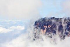 Bloße Klippen der Montierung Roraima Stockfoto
