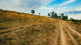 Bloße Landschaft, weit weg von den Bäumen Lizenzfreie Stockbilder