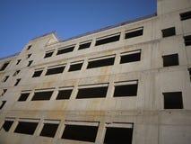 Bloße Maurerarbeit des Neubaus Lizenzfreies Stockbild