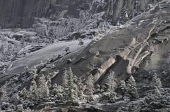 Bloße Steinklippe mit Eis Lizenzfreies Stockbild