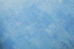 Bloßer Gipswandhintergrund, blaue Tapete Stockbilder