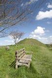 Bloßer Schlosshügel vom langen Hügel Stockbild