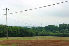 Bloßes Ackerland-ländliche Landschaft Lizenzfreies Stockbild