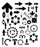 Bloack arrows. Vector design elements - arrows set Royalty Free Stock Images