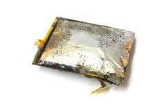 Bloat, danifique, expire, mau, bateria do telefone celular do tiro fotos de stock