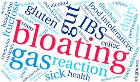 Bloating Word Cloud. On a white background Stock Images