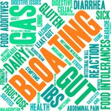 Bloating Word Cloud. On a white background Royalty Free Stock Photo