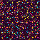 Blob line colorful seamless pattern Stock Image