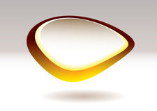 Blob pebble gold fruit Royalty Free Stock Photography