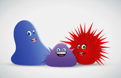 Blob spiky creatures Royalty Free Stock Image