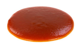 Blob of taco sauce on a white background Royalty Free Stock Image