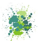 Blobs and splashes of paint. Color green splashes background Vector illustration Stock Photos
