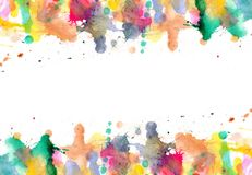 Blobs - watercolour paints splatters on paper Royalty Free Stock Photo