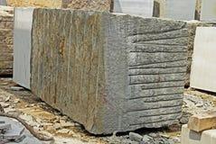 Bloc énorme de granit Images libres de droits