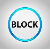 Bloc autour de bouton poussoir bleu illustration libre de droits