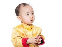Bloc chinois de jouet de jeu de bébé garçon images libres de droits