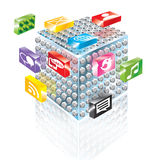 Bloc constitutif Apps Image libre de droits