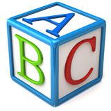 Bloc d'ABC Images libres de droits
