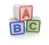 Bloc d'ABC Photos libres de droits